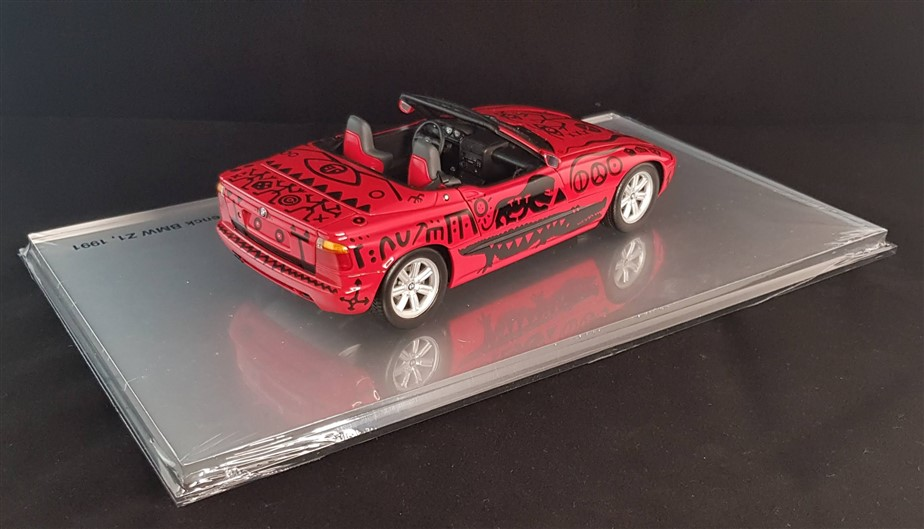The artcar painted by A.RPenck, a stunning red Bmw Z1