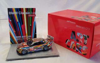 Bundle of Bmw Art Car Miniature in 1:18 Jeff Koons artist