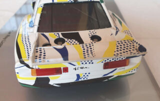 Lichtenstein signature on rear modelcar