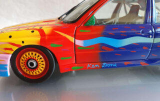 Ken Done signature on Bmw miniature