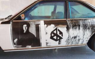 "Bronzino ""Portrait of a young man"" on 1:18 Bmw Art Car Rauschenberg"