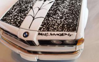 Rauschenberg signature on Bmw ARt car