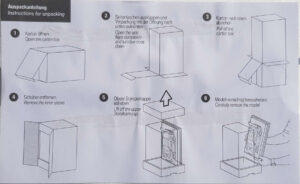 Instructions for unpacking Bmw artcar miniature.